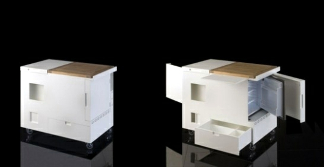 Space-saving mini kitchen - the single kitchen by Boffi