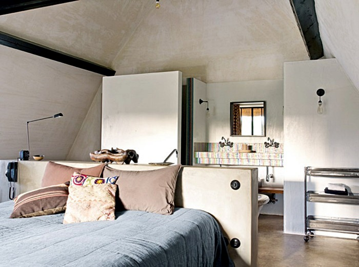 Spirit loft in a traditional house