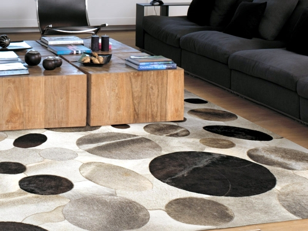 Stylish home design ideas with leather carpet for pure luxury ambience