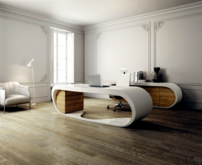 Stylish Office Table Provides Practical Options For