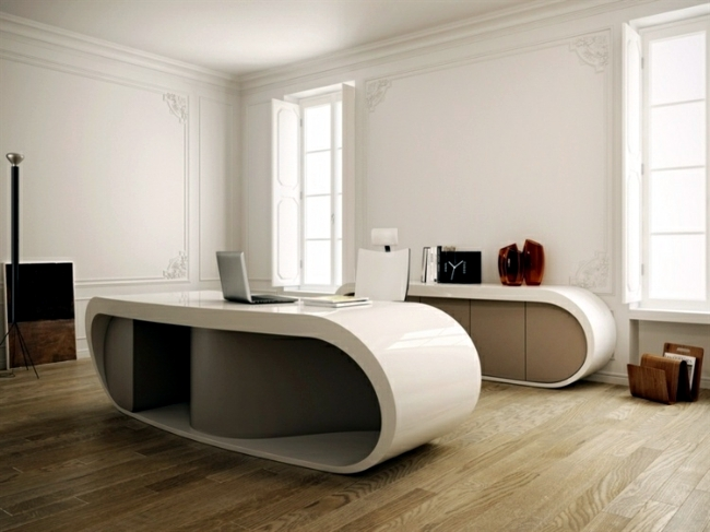 Stylish office table provides practical options for modification