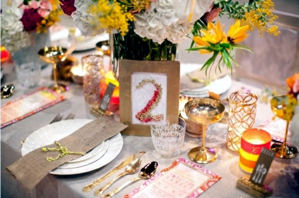Summer wedding celebration - Great Location, invitations and table decorations