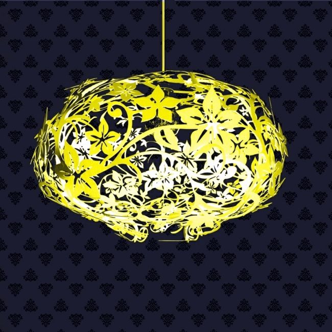 Suspension lamp made of metal combined lighting and decoration