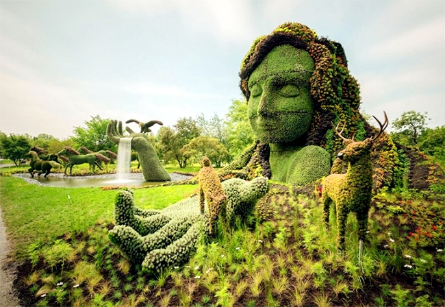 Sustainable garden art garden fascinating sculptures of for Garden artist designs