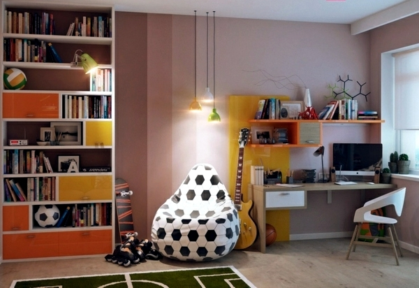 The beanbag chair in the nursery - 33 cool decorating ideas