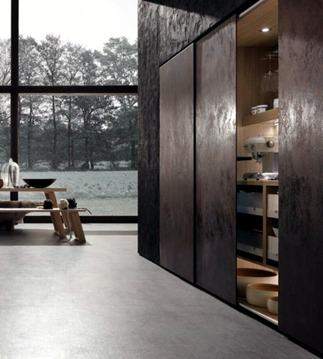 The Cult and Neos kitchen designs with wooden elements of Rational