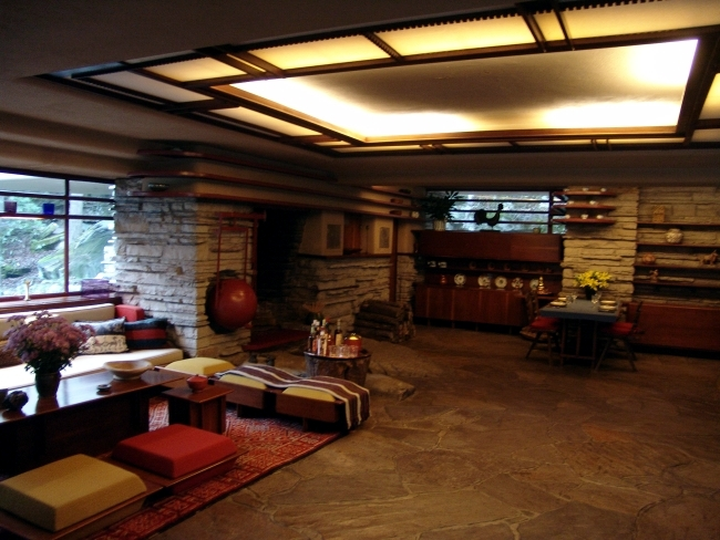 The Fallingwater House by Frank Lloyd Wright remains eternal classics