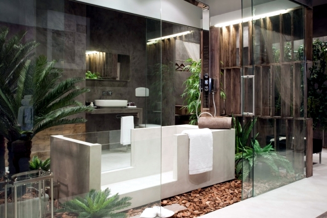the garden of eden play in a modern bedroom design - Bathroom In Bedroom Design