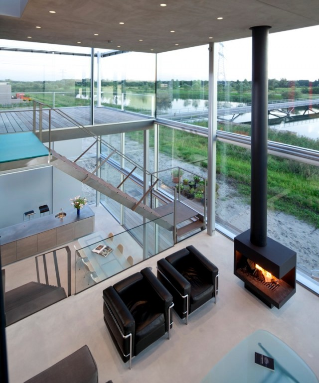 home interior design glass