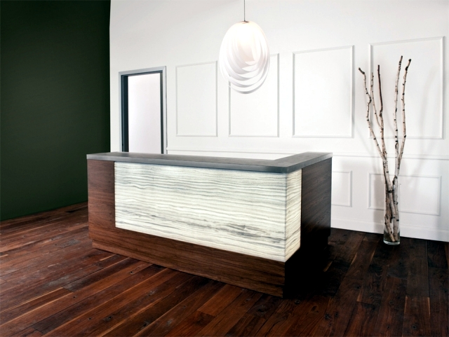 The high quality materials and decorative panels 3Form of the Interior