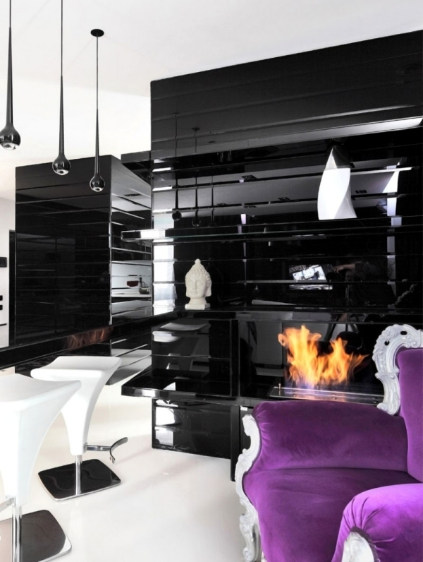 The Impressive Project Begovaya A Modern Apartment In Black And