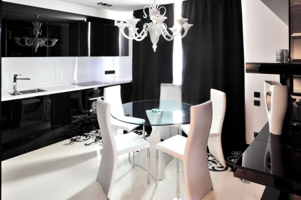 The impressive project Begovaya - a modern apartment in black and white