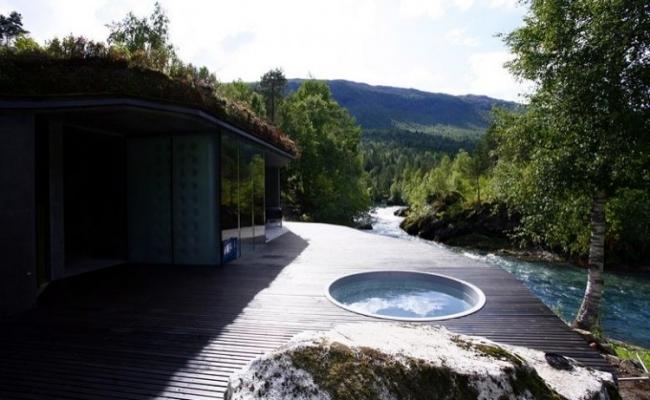 The Juvet Landscape Hotel design with minimalist architecture