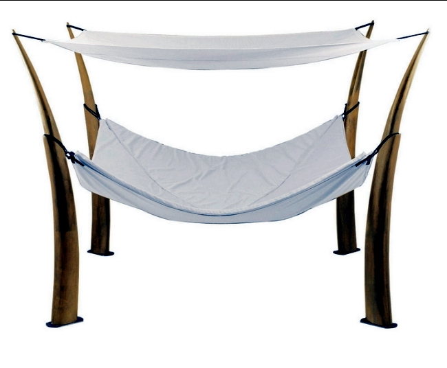 The Kokoon hammock design from Royal Botania as a quiet retreat