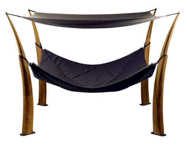 The Kokoon hammock design from Royal Botania as a quiet retreat