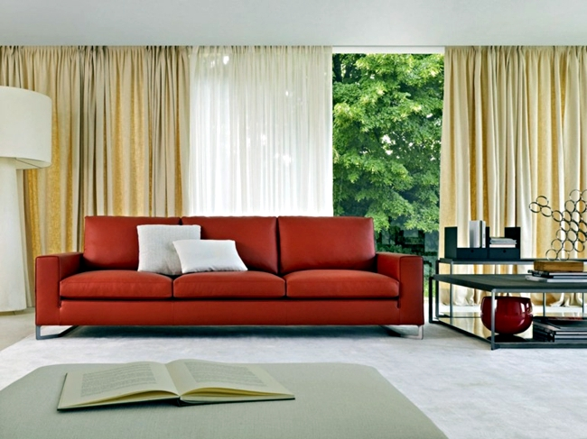 The matching sofa design ensures comfort in the living room