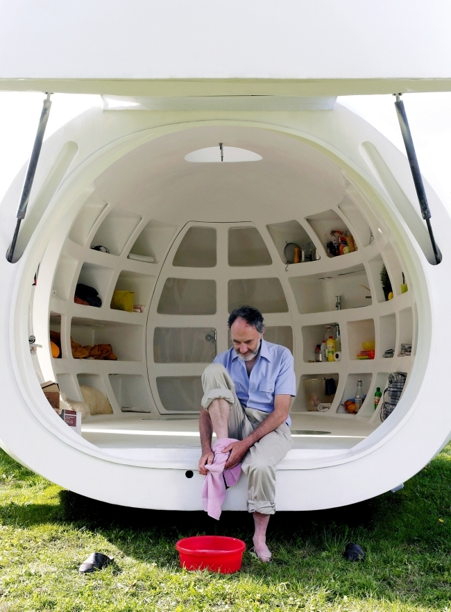 The mobile unit Blob VB3 for a nomadic lifestyle