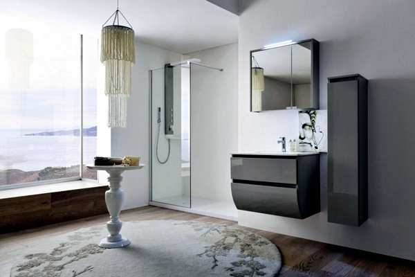 The modern bathroom mirror cabinet provides more storage than