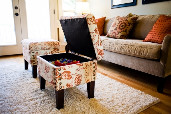 The modern furniture with storage space saving cost and space