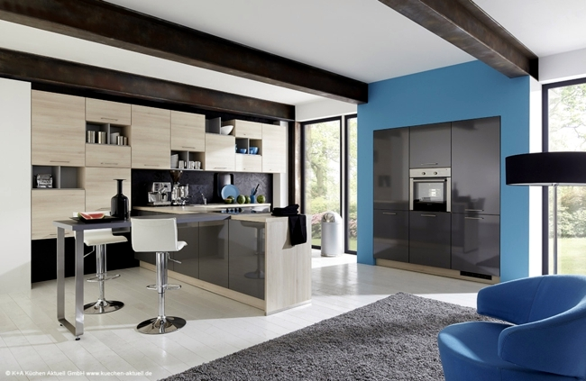 The modern kitchen combines aesthetics with functionality