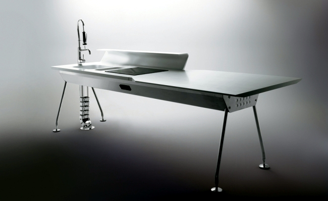 The modern kitchen design Ernestomeda Solaris by Pietro Arosio