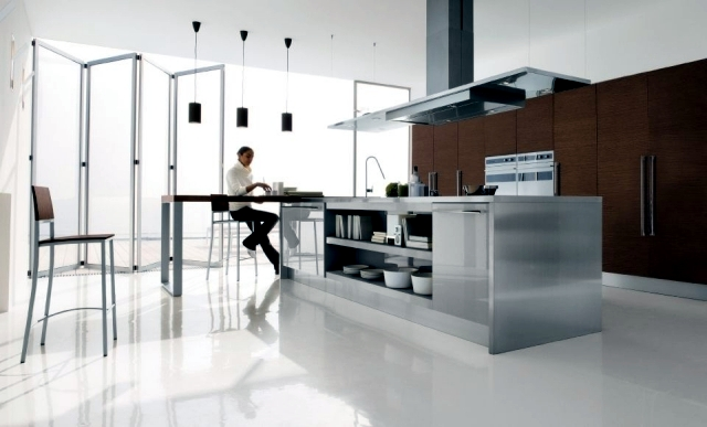 The modern kitchen island in the kitchen - 45 well-appointed designs