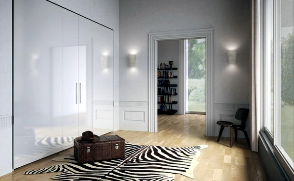 The modern wardrobe with sliding doors-both practical and stylish