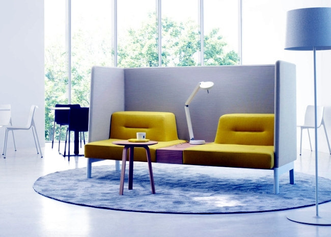 """The modular furniture system """"dock"""" is used to relax and work"""