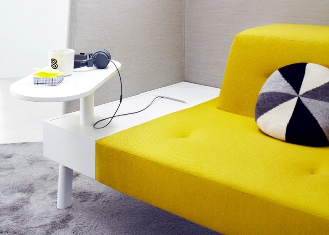 "The modular furniture system ""dock"" is used to relax and work"