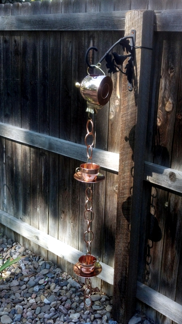 The Rain Chain Downspout Instead Serves As A Creative