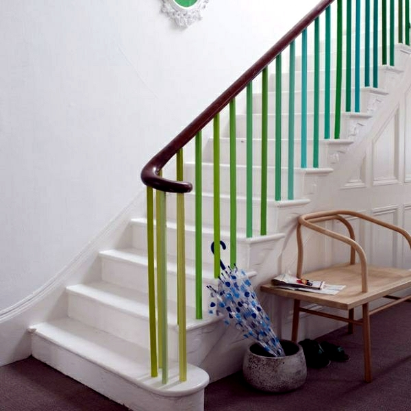 The staircase decorating ideas with paint leftover - Ideas for painting stairs ...