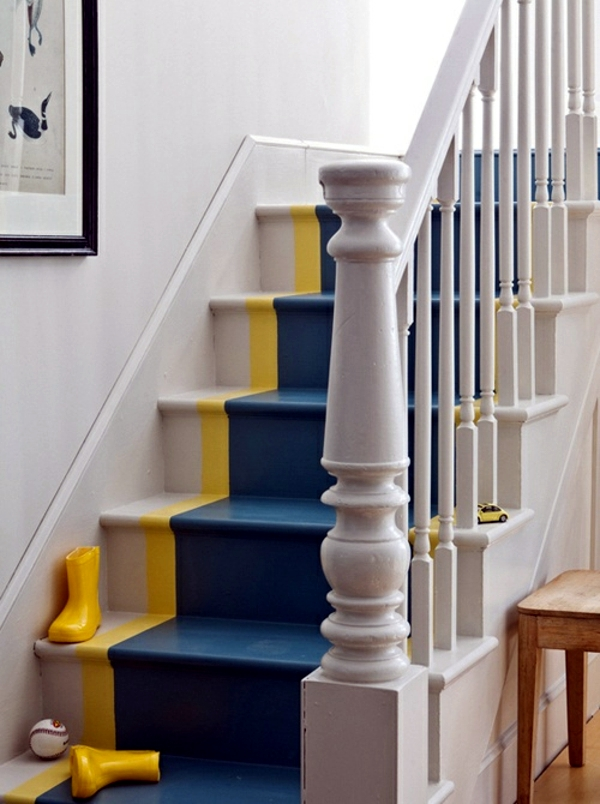 The Staircase Decorating Ideas With Paint Leftover