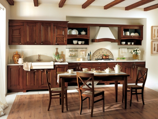 The traditional charm of the classic wooden kitchen