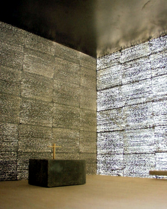 The transparency material of concrete made of fine glass fibers Litracon