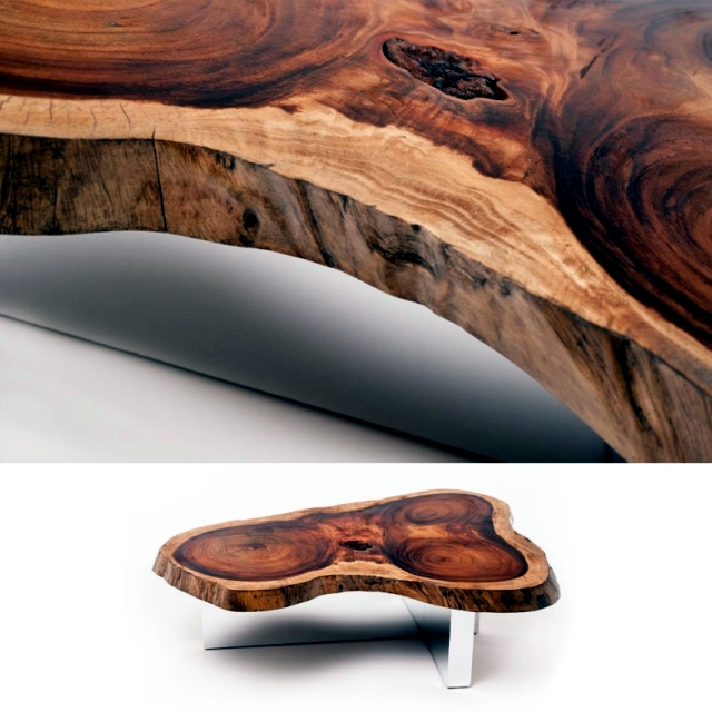 The Unique Coffee Tables Made Of Solid Wood Furniture