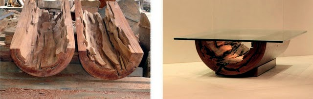 The unique coffee tables made of solid wood Furniture Rotsen ...