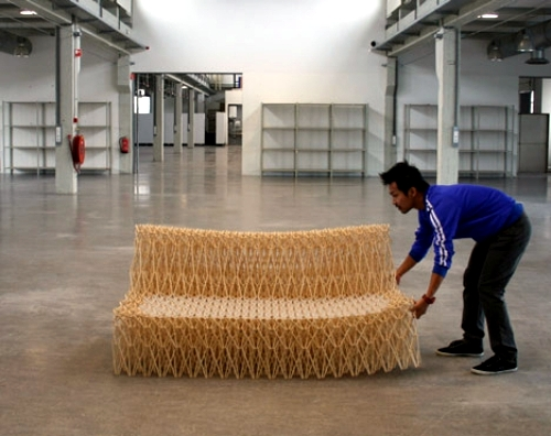 The XXXX sofa design made of recycled particles from Yuya Ushida