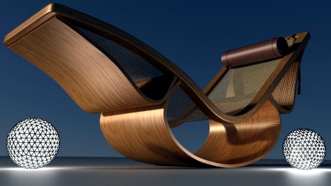 "Timeless design deck chair ""Rio"" by architect Oscar Niemeyer"