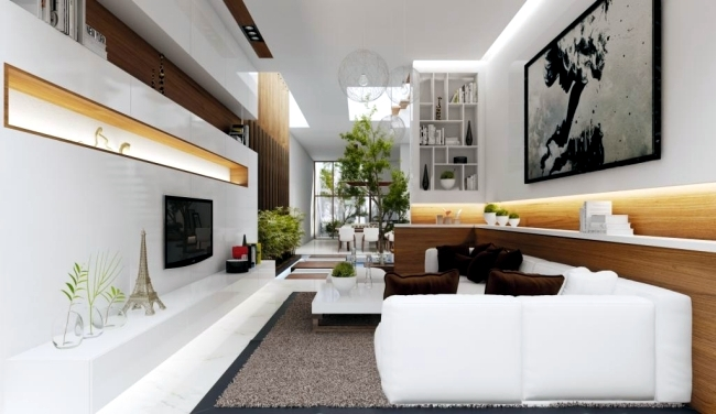 3D Visualized Living Room Interior Design Ideas. Living Room