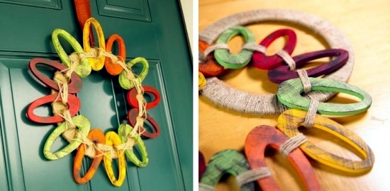 Tinker great decoration for autumn - wreath from natural materials