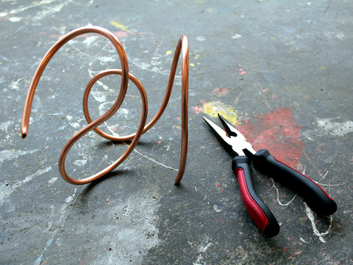 Tinker vases of copper coil itself - gift ideas for Mother