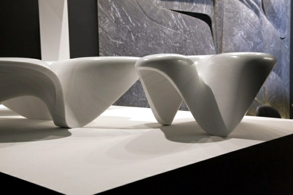 Trends from Milan Furniture Fair 2015 - marble table by Zaha Hadid