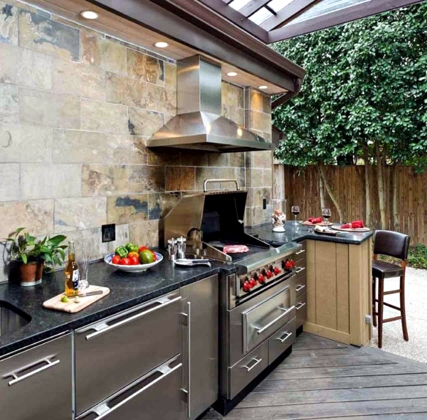 Trendy outdoor kitchen set up in the garden ideas for for Kitchen setup ideas