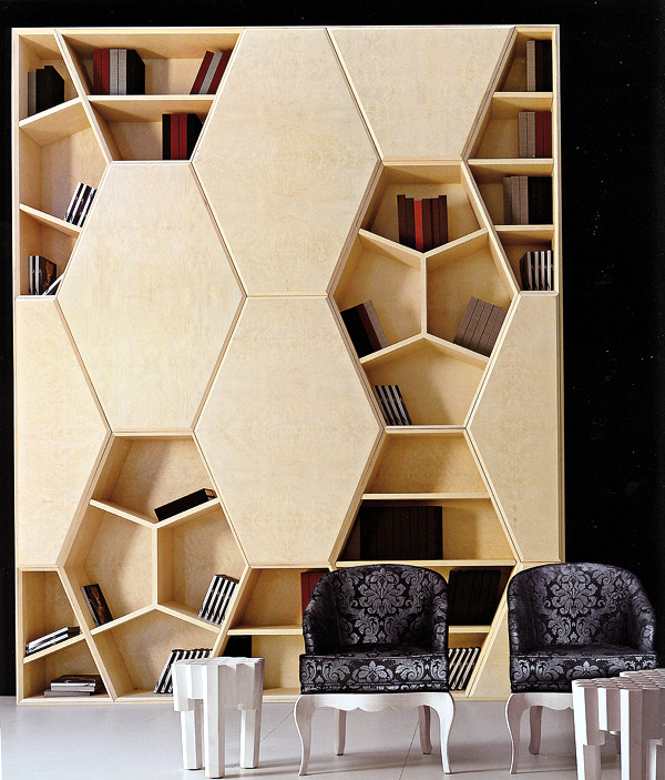Bookshelf - Unconventional Bookcase Designs Serve As An Accent In The Interior