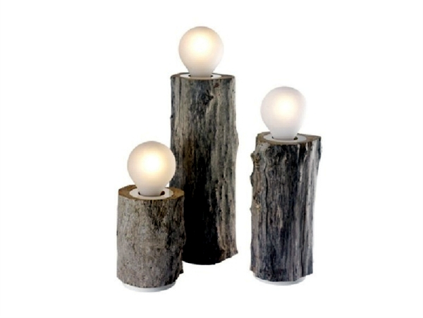 Unique designer lamps with wooden elements by Bleu Nature