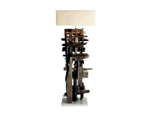 Unique designer lamps with wooden elements by Bleu Nature