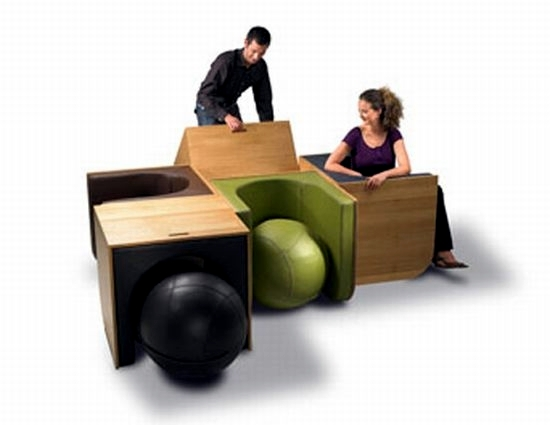 Unique furniture design serves as a table and chair