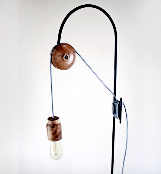 Unique Wall and Floor Lamp Pulley Light from 2nd Shift