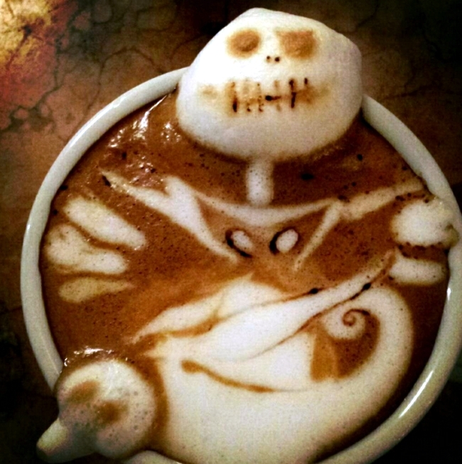Image result for latte art of disney characters
