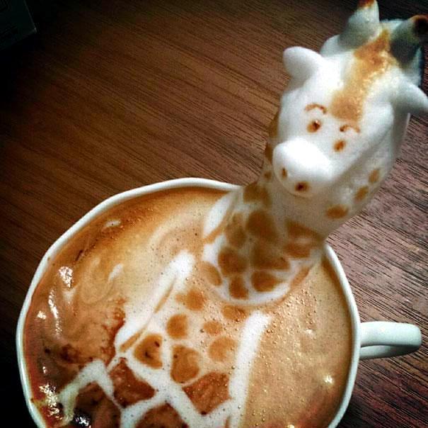 Unusual 3D Latte Art by Japanese artist Kazuki Yamamoto